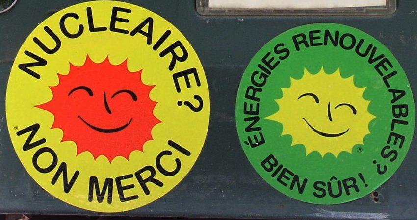 """Aufkleber """"Atomkraft? Nein danke!"""" auf französisch"""