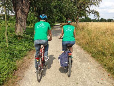 Radfahrer auf dem Gänsbründelweg