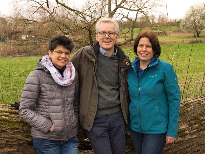 Die grünen Gemeinderäte Bettina Lieske, Claus Stegmaier und Tanja Becker-Fröhlich