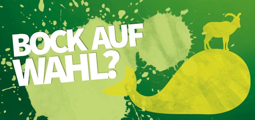 """Logo """"Bock auf Wahl?"""""""