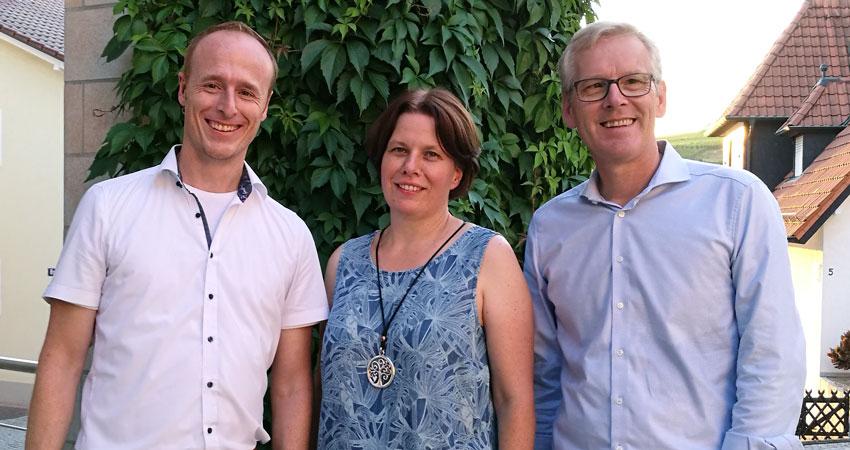 Die grünen Gemeinderäte seit 2019: Sven Antoni, Tanja Becker-Fröhlich und Claus Stegmaier