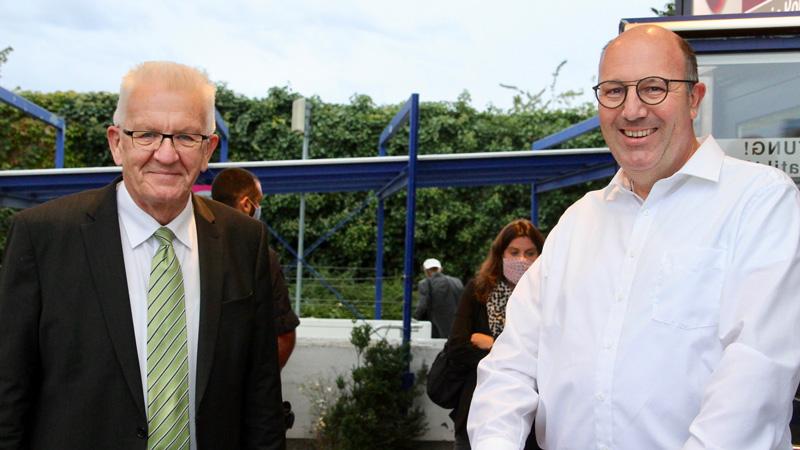Norbert Knopf mit Winfried Kretschmann in Wiesloch