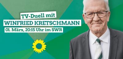 TV-Duell mit Ministerpräsident Winfried Kretschmann @ Live im TV und online
