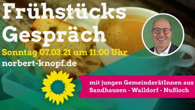 Frühstücksgespräch mit jungen Gemeinderäten @ online